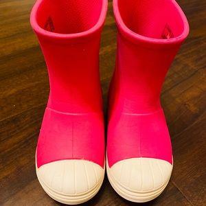 Crocs girls rain boots